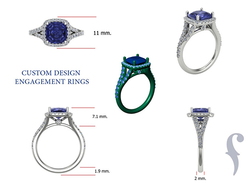 Measurements for Custom Designed Engagement Rings