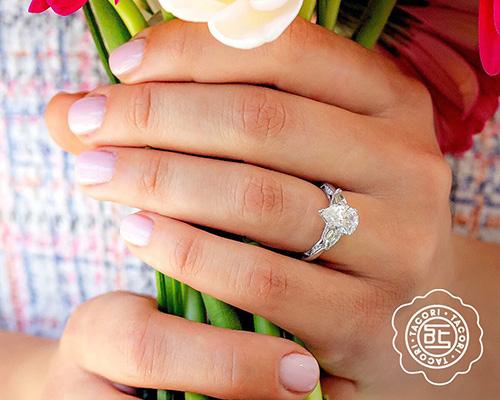 Tacori Pear-Shaped Diamond Engagement Ring