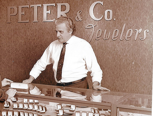 Old Photo of Peter & Co. Jewelers Store