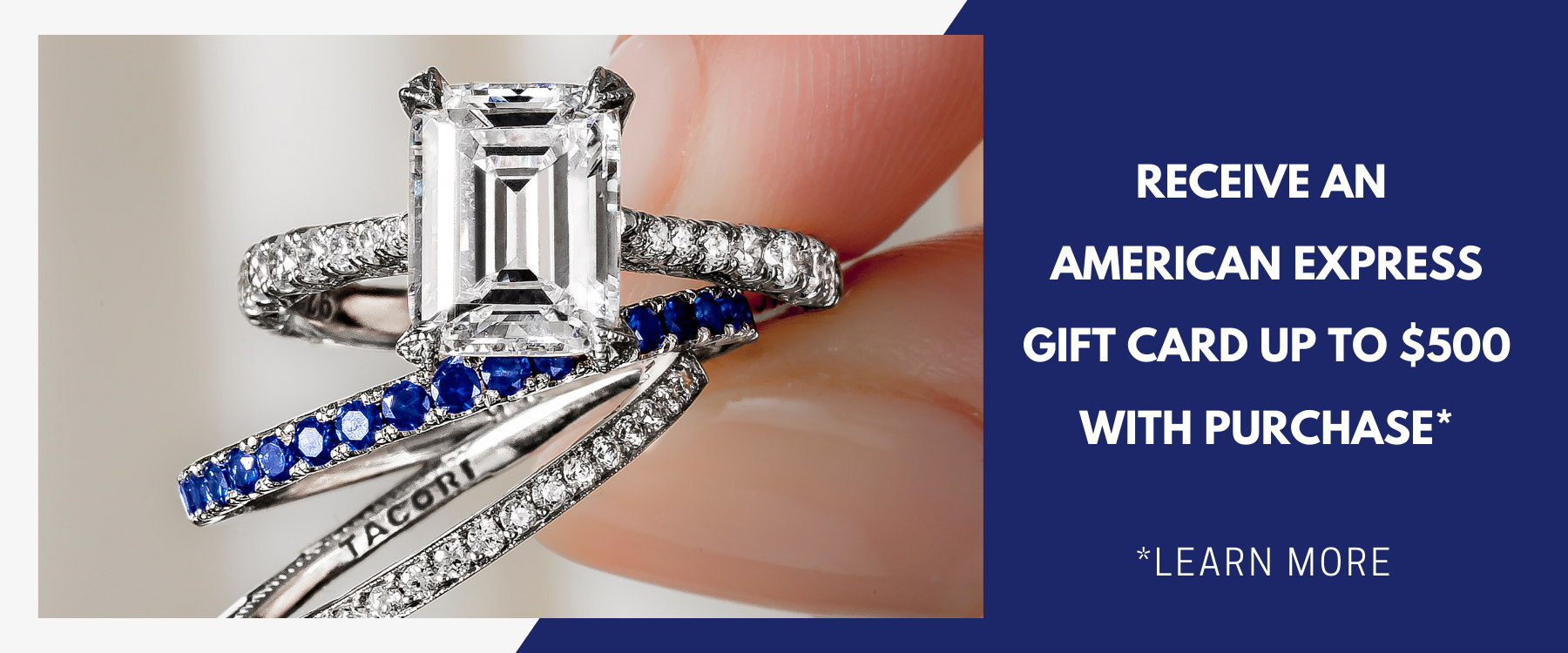 Receive an American express gift card up to $500 with diamond engagement ring purchase at Peter & Co. Jewelers Avon Lake, OH
