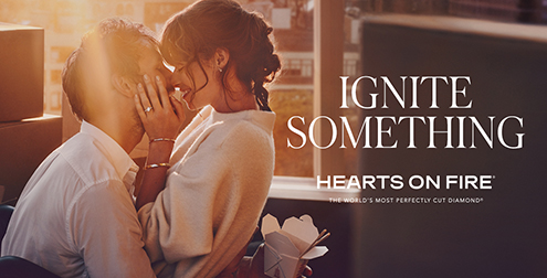 Hearts on Fire Ignite Something advertisement.