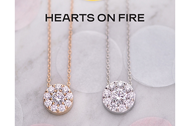 Hearts on Fire diamond necklace.