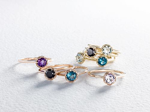 Eight Tacori Crescent Crown Rings