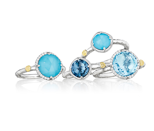 Four Gemma Bloom Rings from Tacori