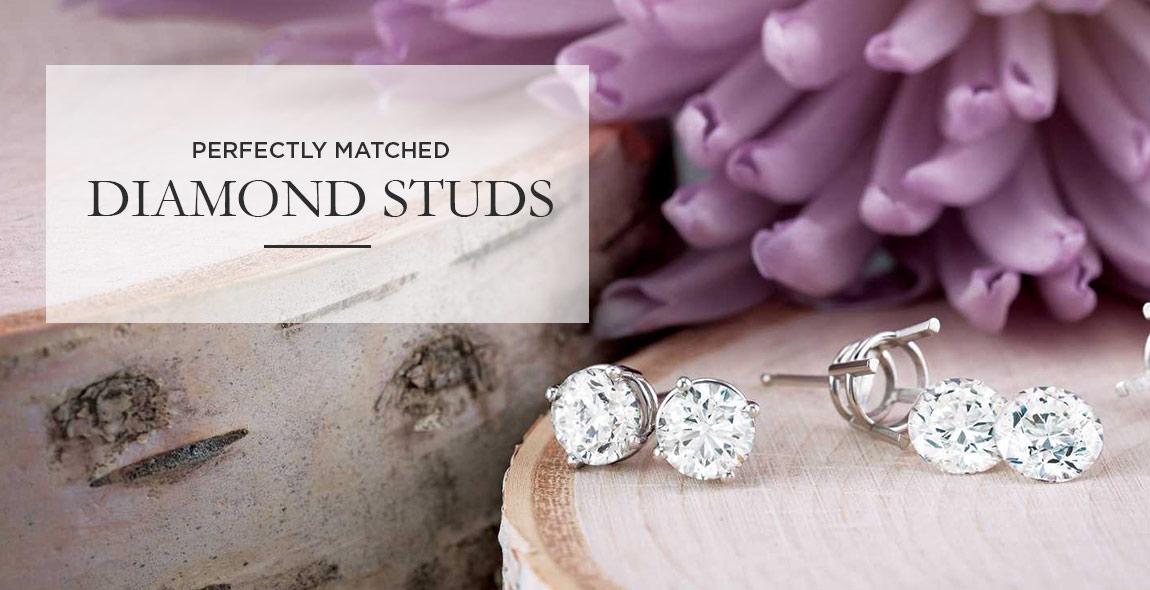 Diamond Stud Earrings Diamond Cluster Earrings Miami Coral Gables