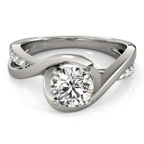 Bypass Diamond Engagement Rings