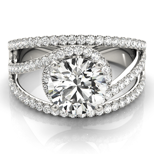 Multi Row Diamond Engagement Rings
