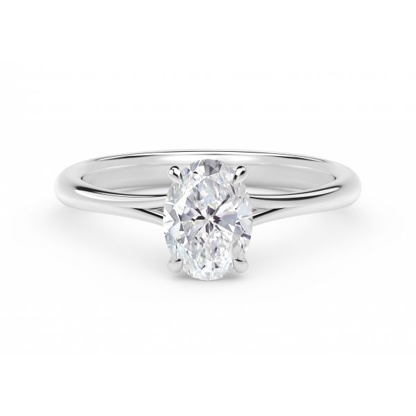 Forevermark Icon Setting Platinum Oval Engagement Ring SVS Fine Jewelry Oceanside, NY