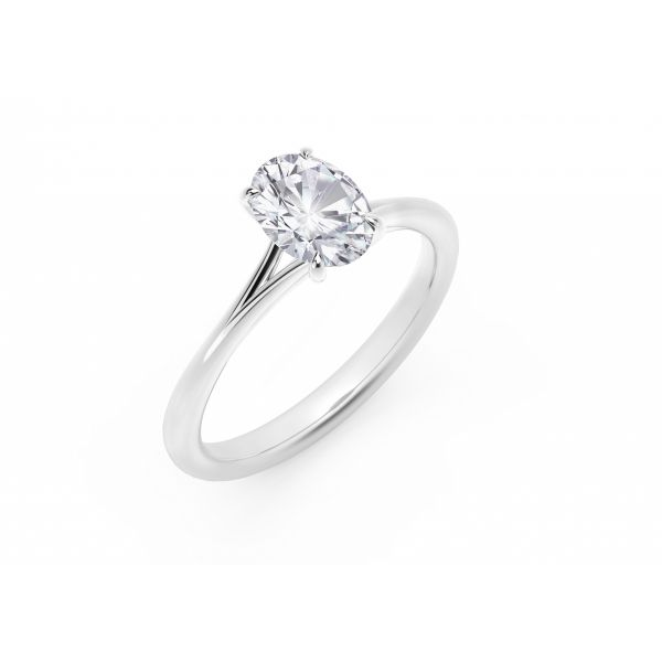Forevermark Icon Setting Platinum Oval Engagement Ring Image 2 SVS Fine Jewelry Oceanside, NY
