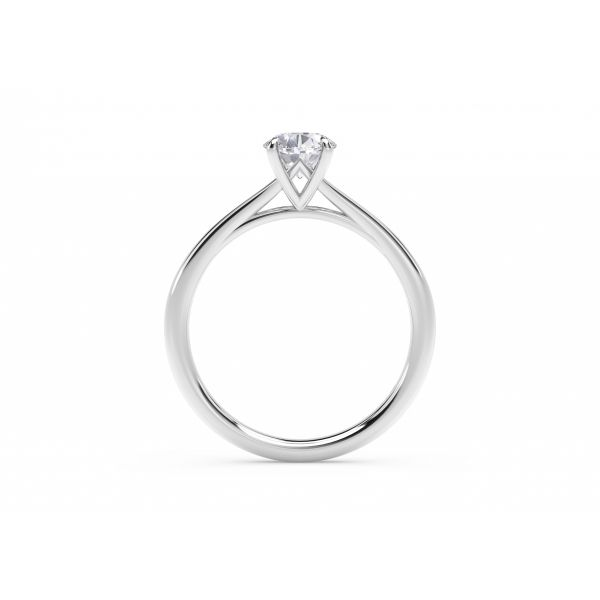 Forevermark Icon Setting Platinum Oval Engagement Ring Image 3 SVS Fine Jewelry Oceanside, NY