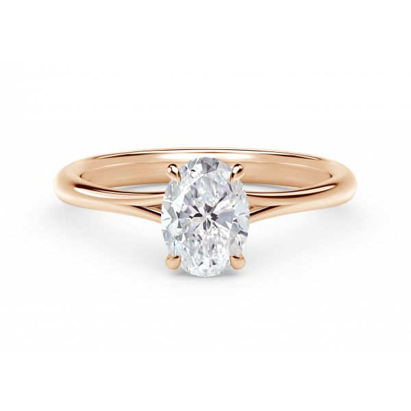 Forevermark Icon Setting Rose Gold Oval Engagement Ring SVS Fine Jewelry Oceanside, NY