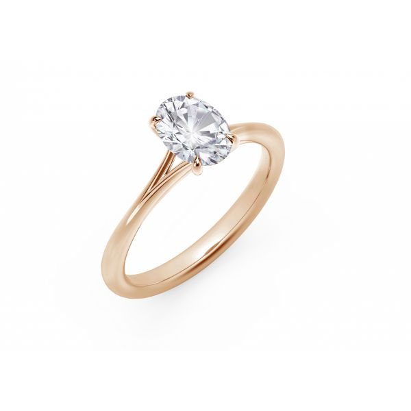 Forevermark Icon Setting Rose Gold Oval Engagement Ring Image 2 SVS Fine Jewelry Oceanside, NY