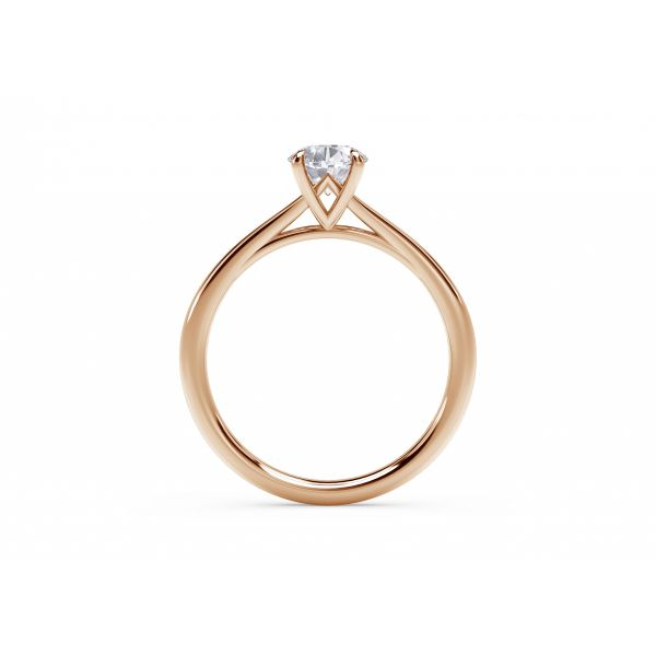 Forevermark Icon Setting Rose Gold Oval Engagement Ring Image 3 SVS Fine Jewelry Oceanside, NY