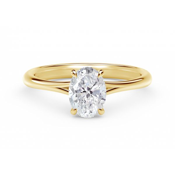 Forevermark Icon Setting Yellow Gold Oval Engagement Ring SVS Fine Jewelry Oceanside, NY