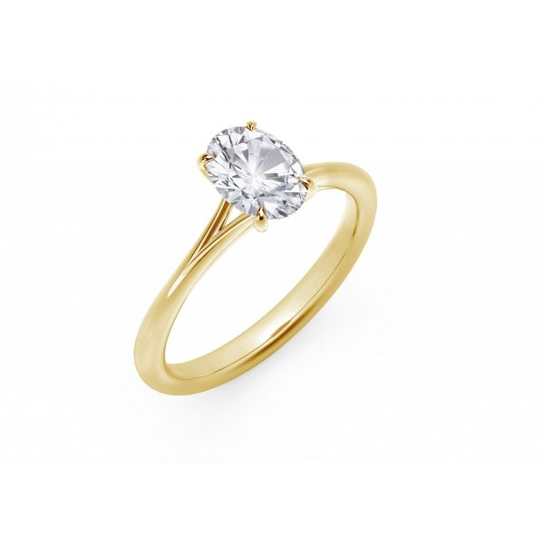 Forevermark Icon Setting Yellow Gold Oval Engagement Ring Image 2 SVS Fine Jewelry Oceanside, NY