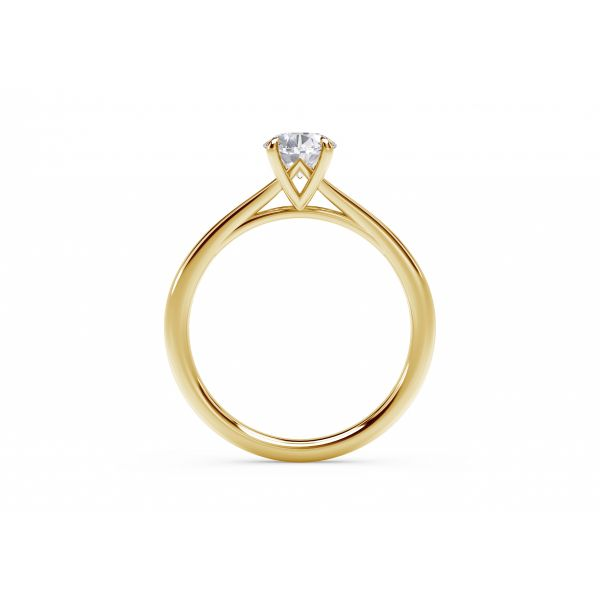 Forevermark Icon Setting Yellow Gold Oval Engagement Ring Image 3 SVS Fine Jewelry Oceanside, NY