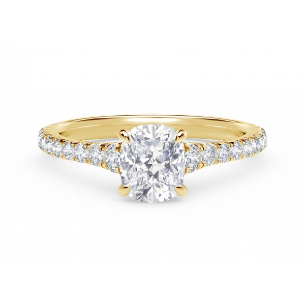 Forevermark Icon Setting Cushion Engagement Ring with Diamond Band SVS Fine Jewelry Oceanside, NY