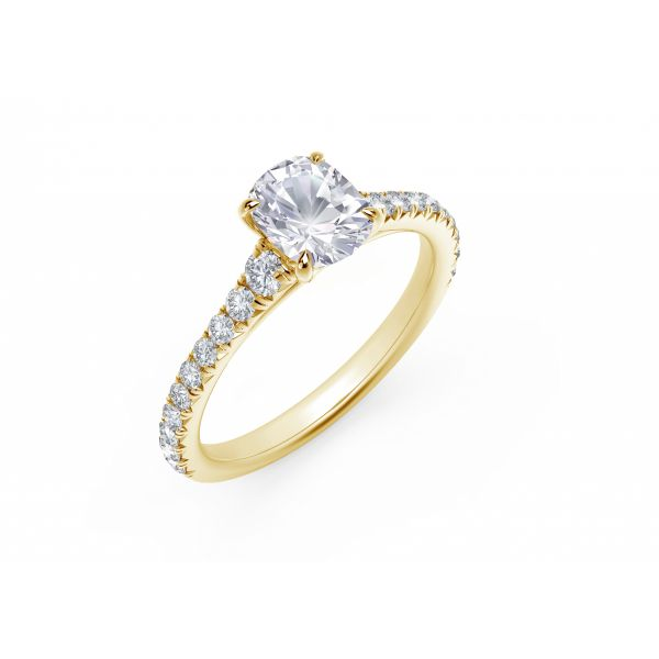 Forevermark Icon Setting Cushion Engagement Ring with Diamond Band Image 2 SVS Fine Jewelry Oceanside, NY