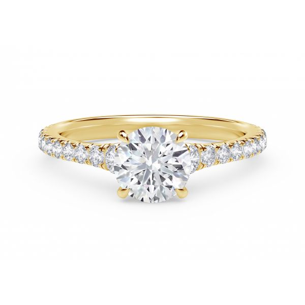 Forevermark Icon Setting Round Engagement Ring with Diamond Band SVS Fine Jewelry Oceanside, NY