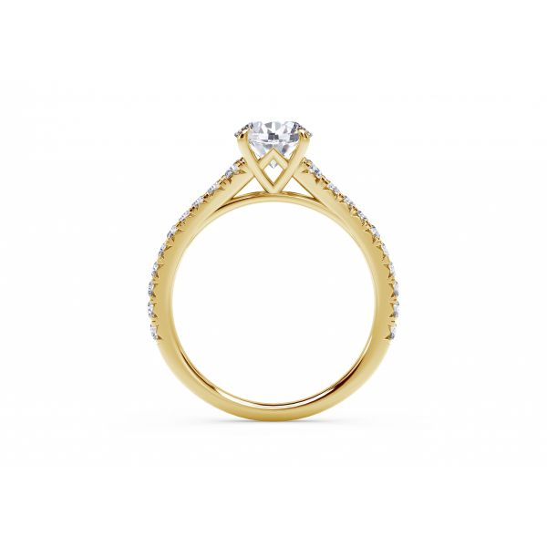 Forevermark Icon Setting Round Engagement Ring with Diamond Band Image 3 SVS Fine Jewelry Oceanside, NY
