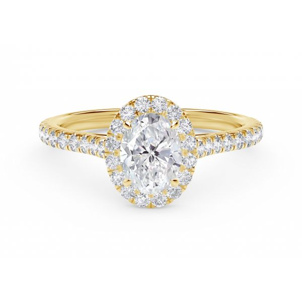 Center of My Universe Oval Halo Engagement Ring with Diamond Band SVS Fine Jewelry Oceanside, NY