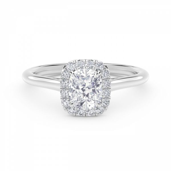 Center of My Universe Cushion Halo Engagement Ring SVS Fine Jewelry Oceanside, NY