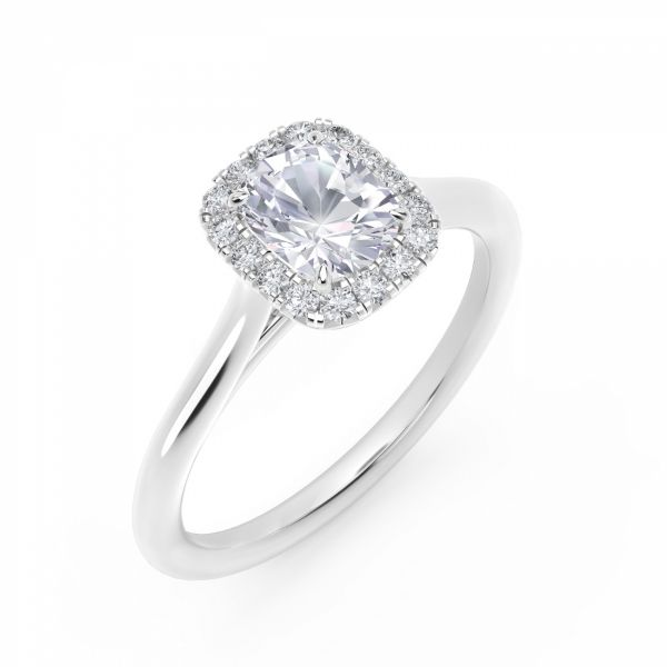 Center of My Universe Cushion Halo Engagement Ring Image 2 SVS Fine Jewelry Oceanside, NY