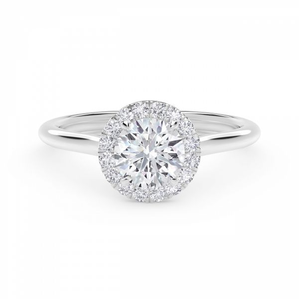 Center of My Universe Round Halo Engagement Ring SVS Fine Jewelry Oceanside, NY