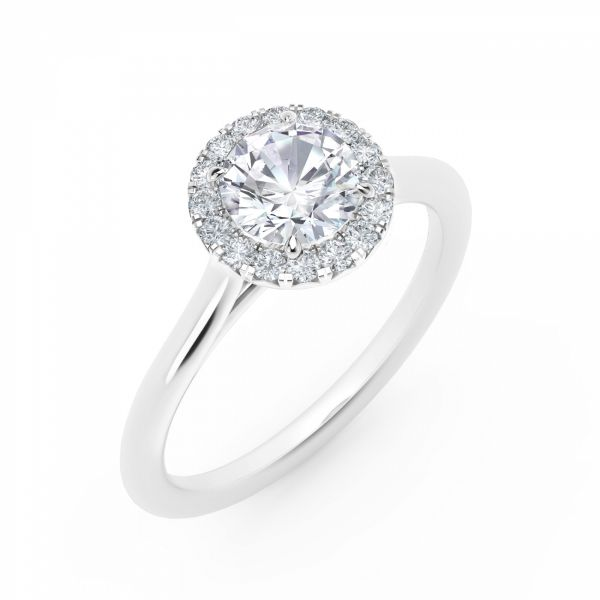 Center of My Universe Round Halo Engagement Ring Image 2 SVS Fine Jewelry Oceanside, NY