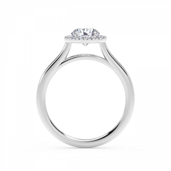 Center of My Universe Round Halo Engagement Ring Image 3 SVS Fine Jewelry Oceanside, NY