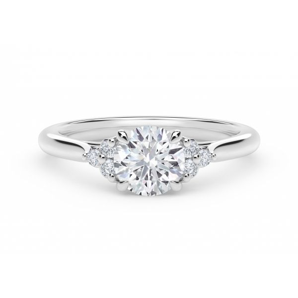 Forevermark Accent Engagement Ring with Triple Sides SVS Fine Jewelry Oceanside, NY
