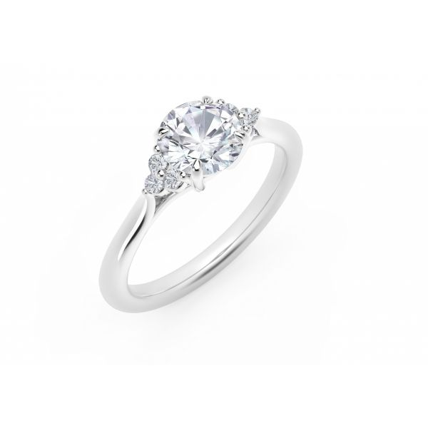 Forevermark Accent Engagement Ring with Triple Sides Image 2 SVS Fine Jewelry Oceanside, NY