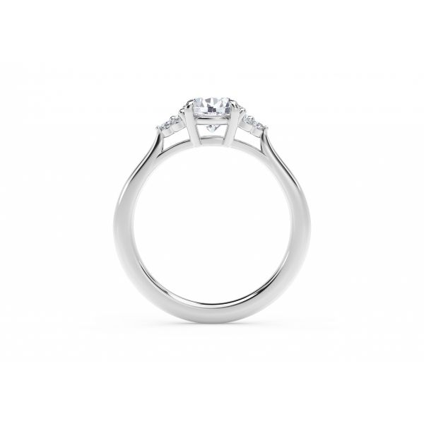 Forevermark Accent Engagement Ring with Triple Sides Image 3 SVS Fine Jewelry Oceanside, NY