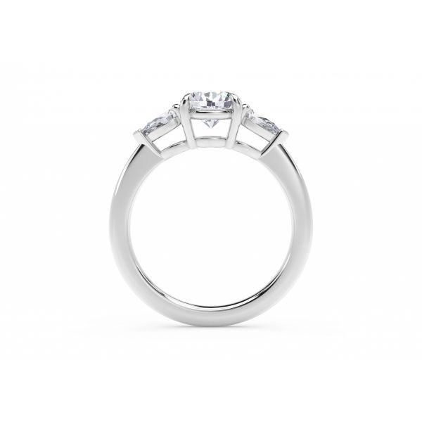 Forevermark Accents Engagement Ring with Pear Sides Image 3 SVS Fine Jewelry Oceanside, NY