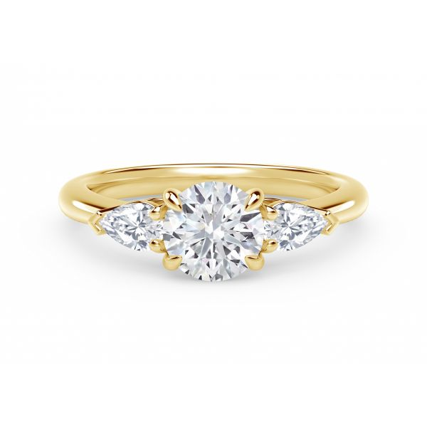 Forevermark Accents Engagement Ring with Pear Sides SVS Fine Jewelry Oceanside, NY