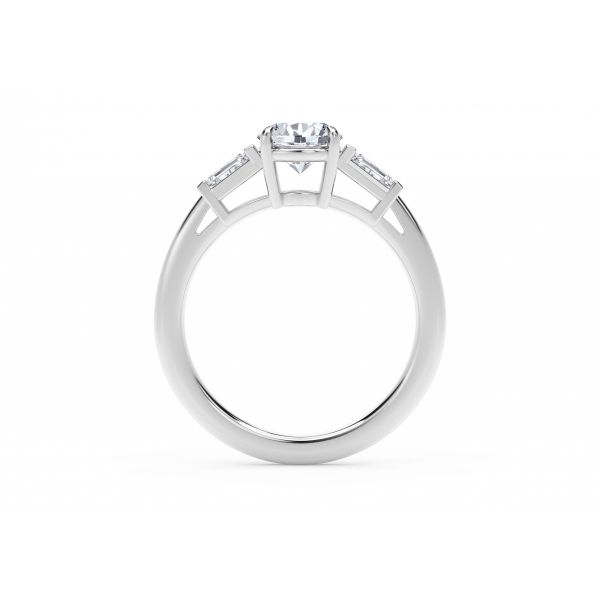 Forevermark Accent Engagement Ring with Tapered Baguette Sides Image 3 SVS Fine Jewelry Oceanside, NY