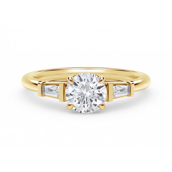 Forevermark Accent Engagement Ring with Tapered Baguette Sides SVS Fine Jewelry Oceanside, NY