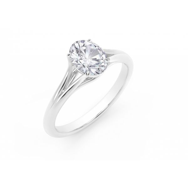 Forevermark Unity Oval Engagement Ring Image 2 SVS Fine Jewelry Oceanside, NY