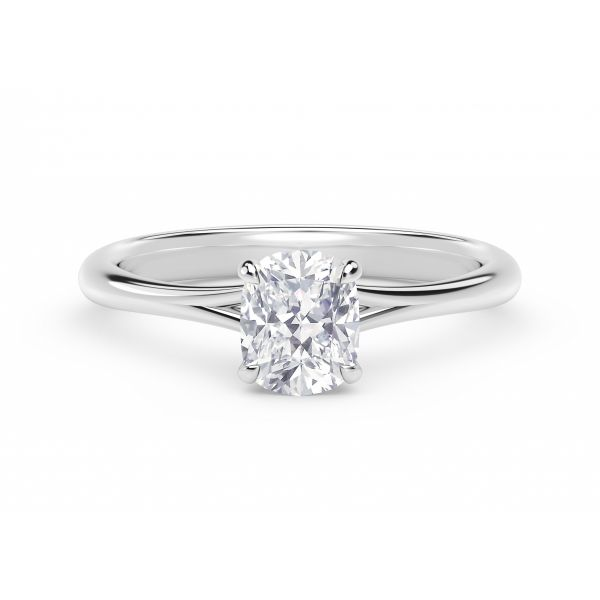 Forevermark Icon Setting Cushion Engagement Ring with Diamond Basket SVS Fine Jewelry Oceanside, NY