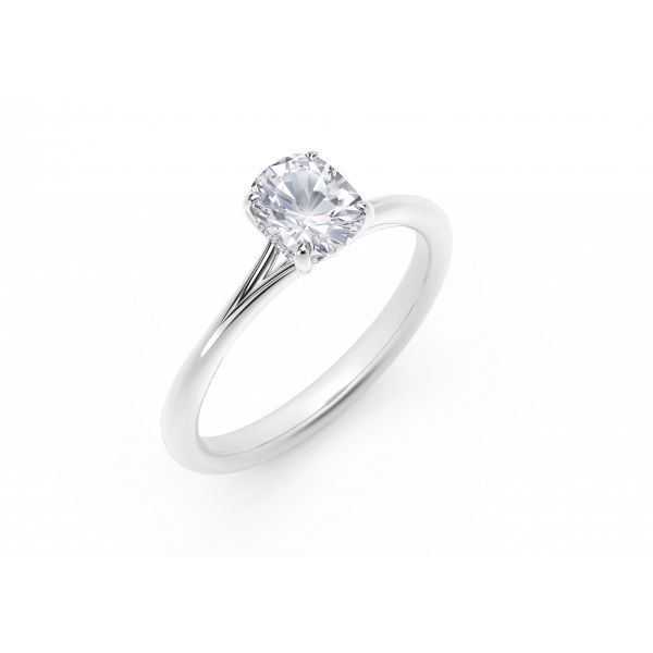 Forevermark Icon Setting Cushion Engagement Ring with Diamond Basket Image 2 SVS Fine Jewelry Oceanside, NY