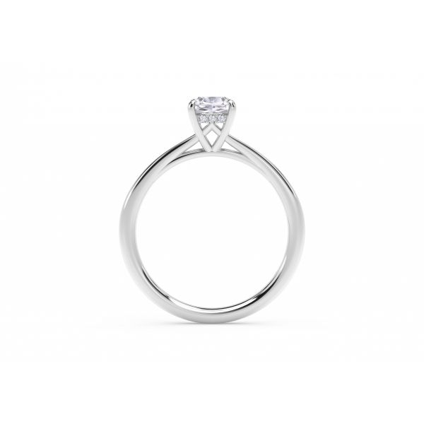 Forevermark Icon Setting Cushion Engagement Ring with Diamond Basket Image 3 SVS Fine Jewelry Oceanside, NY