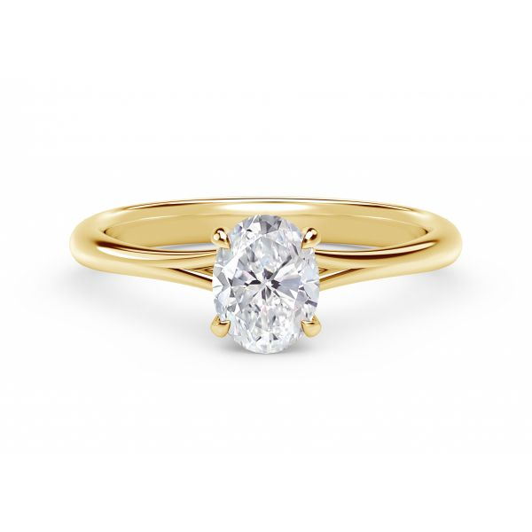 Forevermark Icon Setting Oval Engagement Ring with Diamond Basket SVS Fine Jewelry Oceanside, NY