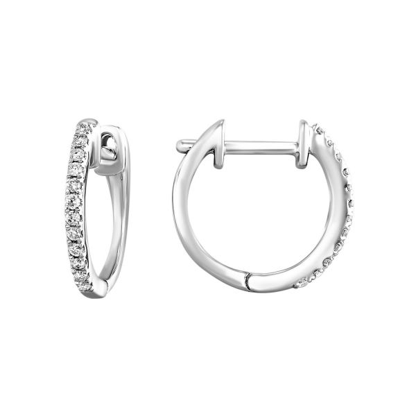 White Gold Diamond Hoops SVS Fine Jewelry Oceanside, NY