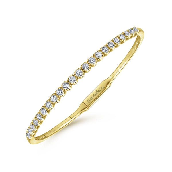 Yellow Gold Diamond Bangle Image 2 SVS Fine Jewelry Oceanside, NY