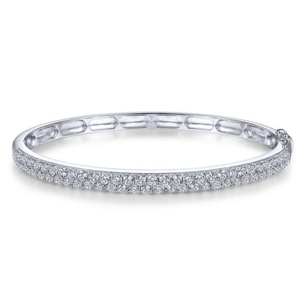 White Gold Diamond Pavé Bangle SVS Fine Jewelry Oceanside, NY