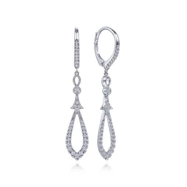 White Gold Diamond Earrings SVS Fine Jewelry Oceanside, NY