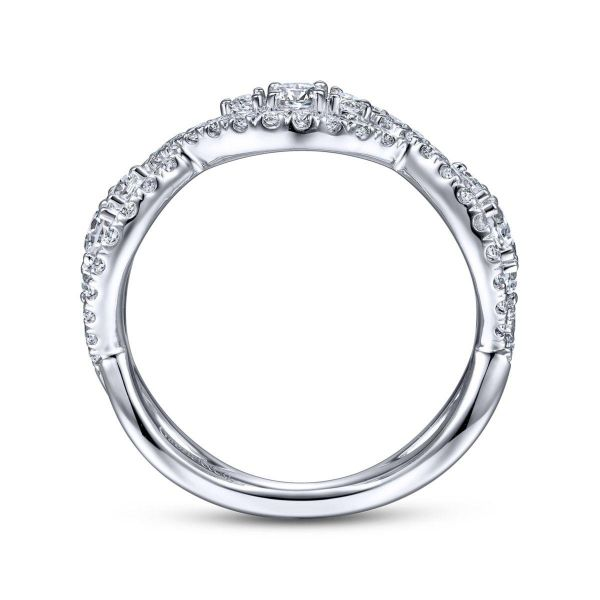 White Gold Diamond Ladies' Ring Image 2 SVS Fine Jewelry Oceanside, NY