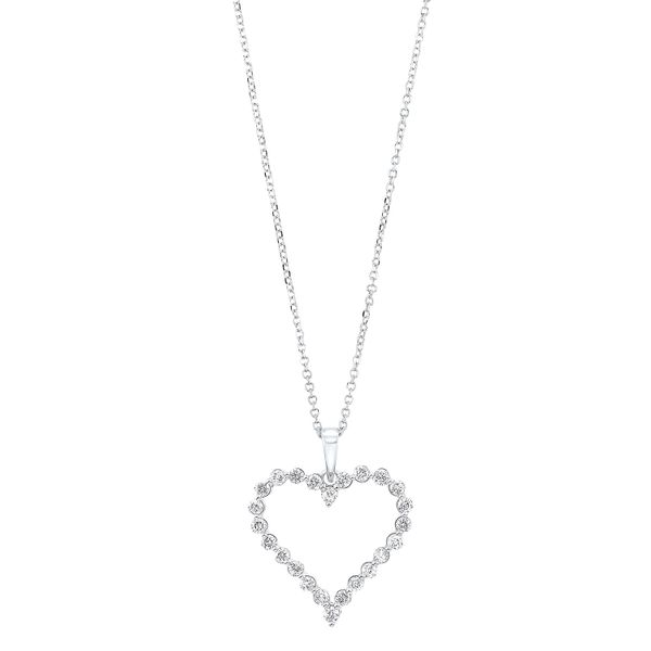 Diamond Open Heart Necklace SVS Fine Jewelry Oceanside, NY