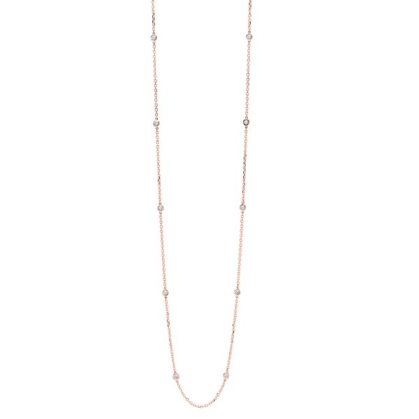 Diamond Station Necklace SVS Fine Jewelry Oceanside, NY