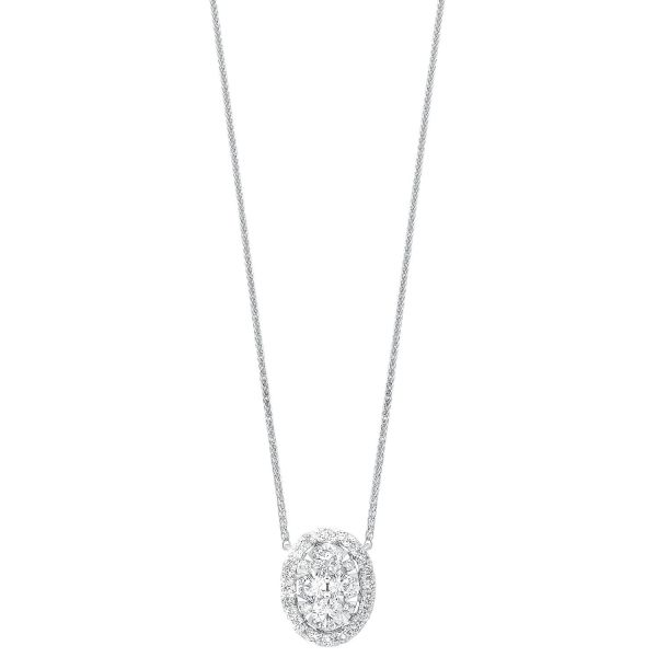 Diamond Starbright Eternity Oval Shaped Cluster Necklace SVS Fine Jewelry Oceanside, NY